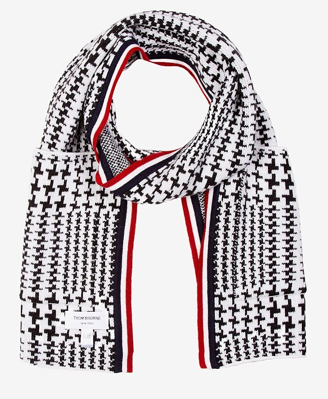 SCARF OF THE HOUR : THOM BROWNE