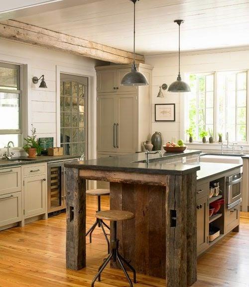 Hogares frescos 30 fabulosas ideas para islas de cocinas for Construir isla cocina