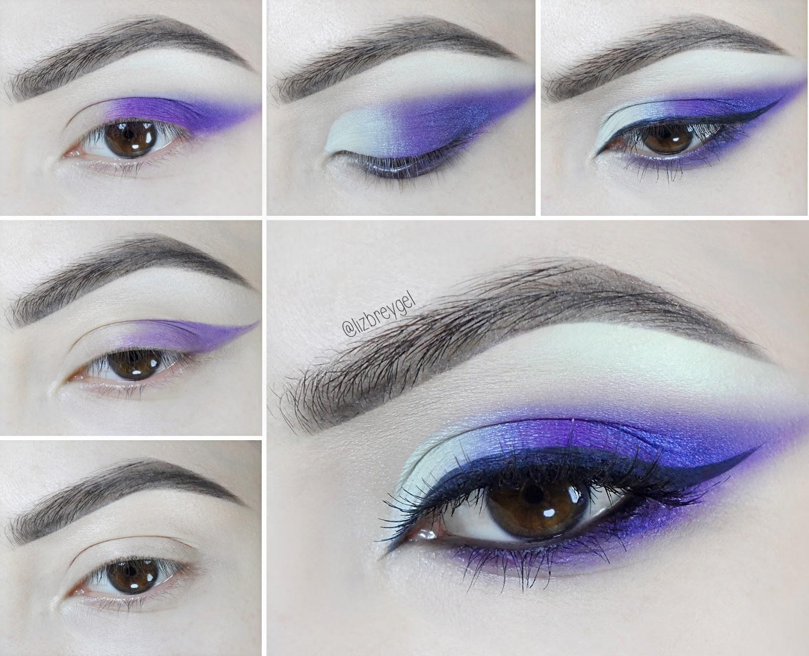 purple violet dramatic smoky eye makeup how to brown eyes liz breygel
