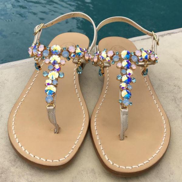Dena Pavone Collection S Handmade Swarovski Sandals The