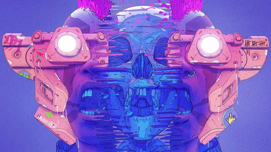 Skull, Digital Art, Illustration, 4K, #4.2052