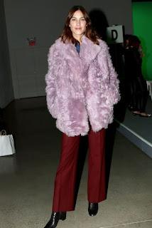 Alexa Chung At Adam Selman Show In New York