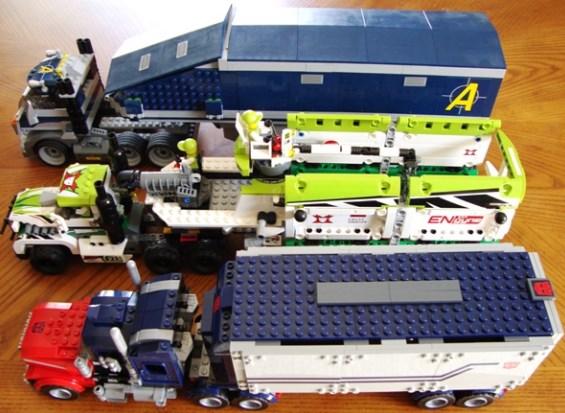 aneka truk gandeng mainan dari lego