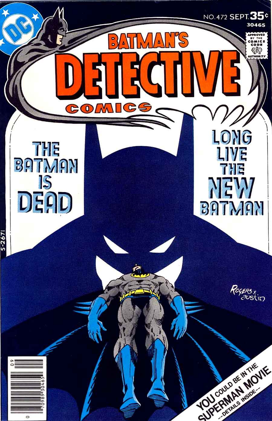 Detective Comics v1 #472 dc comic book cover art by Marshall Rogers