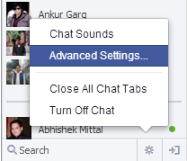 control your advance chat settings in Facebook desktop