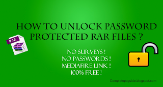 Unlock password protected rar files without password