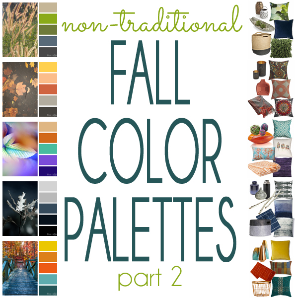 Non Traditional Fall Color Palettes