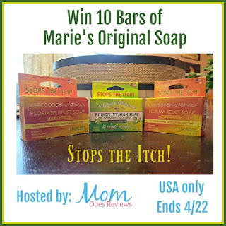 enter the Marie's Original Soap Giveaway. Ends 4/22