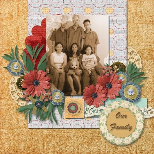 Brown House Memories: Layout 21 - Our Family