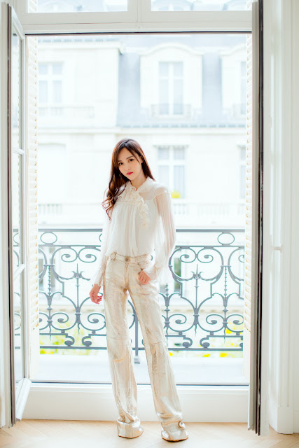 Tang Yan Paris Fashion Week