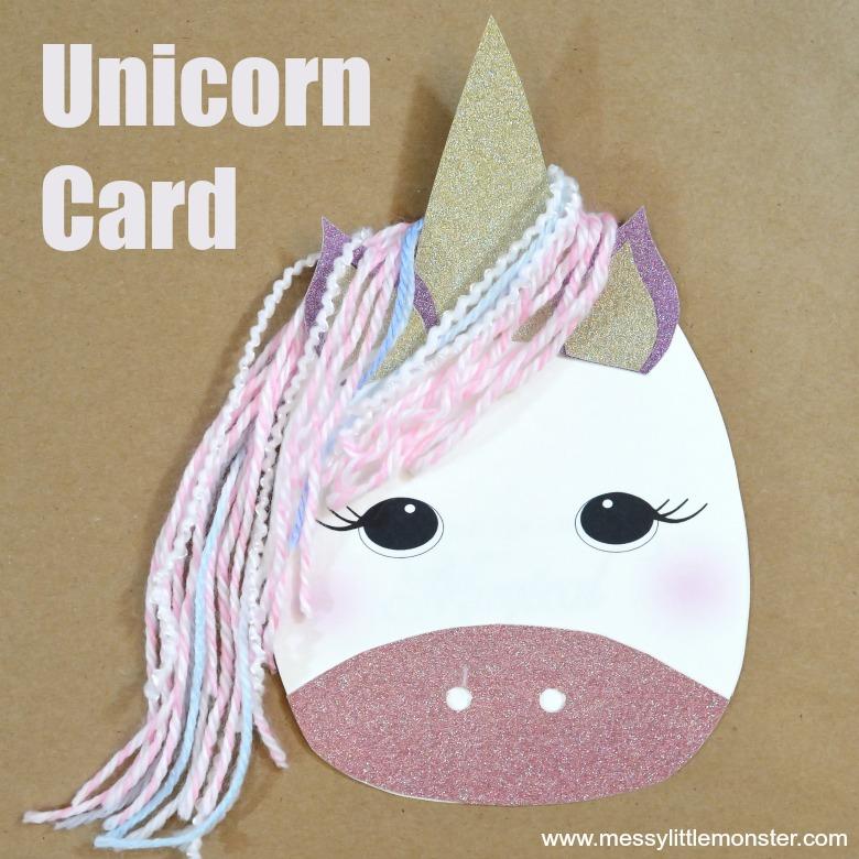 Unicorn Card Craft - Messy Little Monster