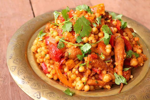 Moroccan-style Vegan Moghrabieh