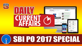 DAILY CURRENT AFFAIRS | SBI PO 2017 | 01.03.2017