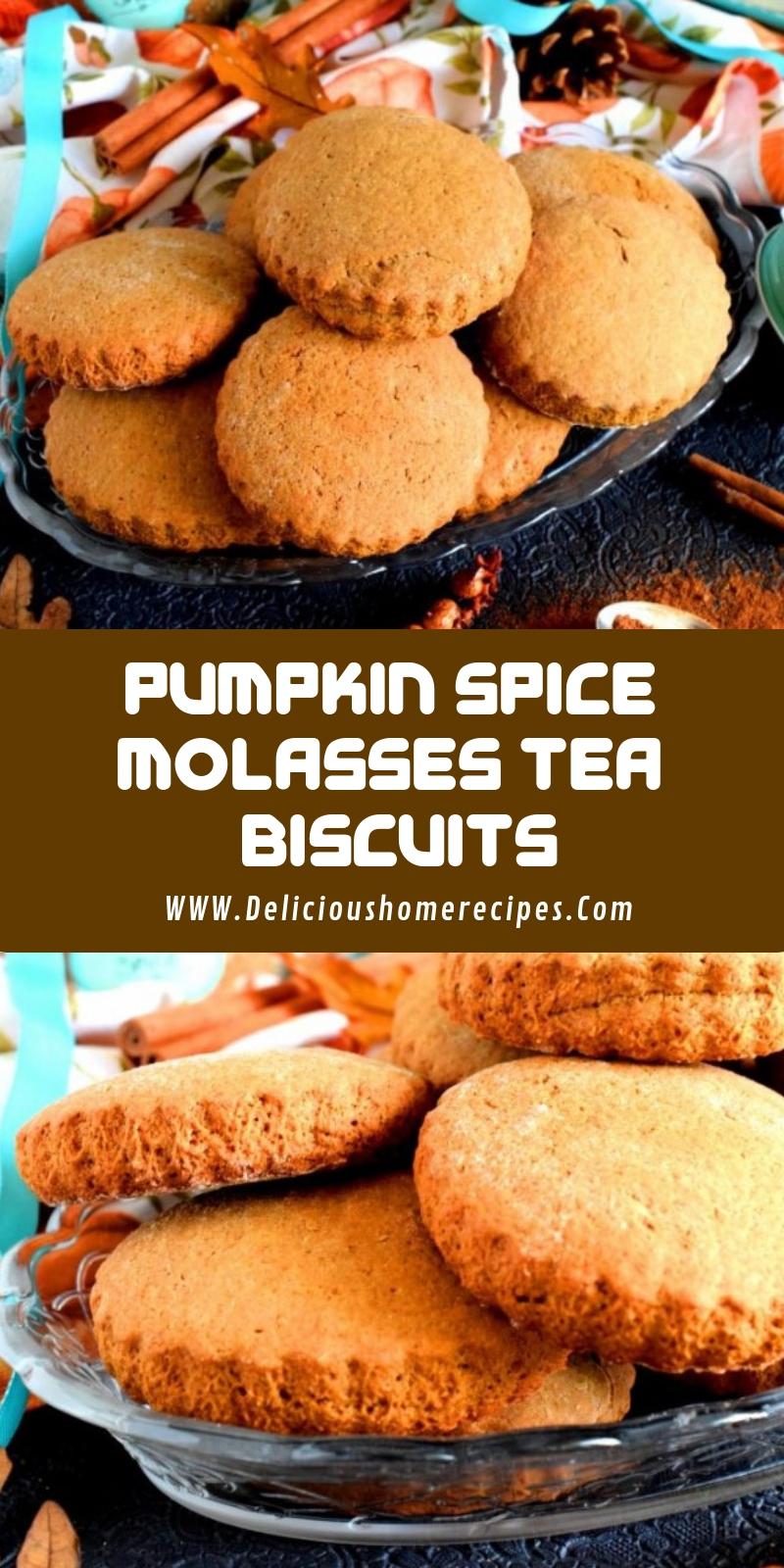 Pumpkin Spice Molasses Tea Biscuits