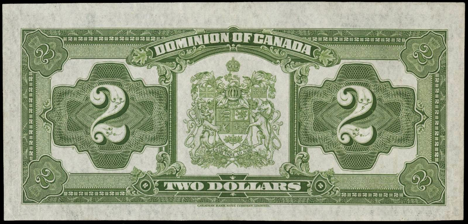 Dominion of Canada 1923 Two Dollar Bill