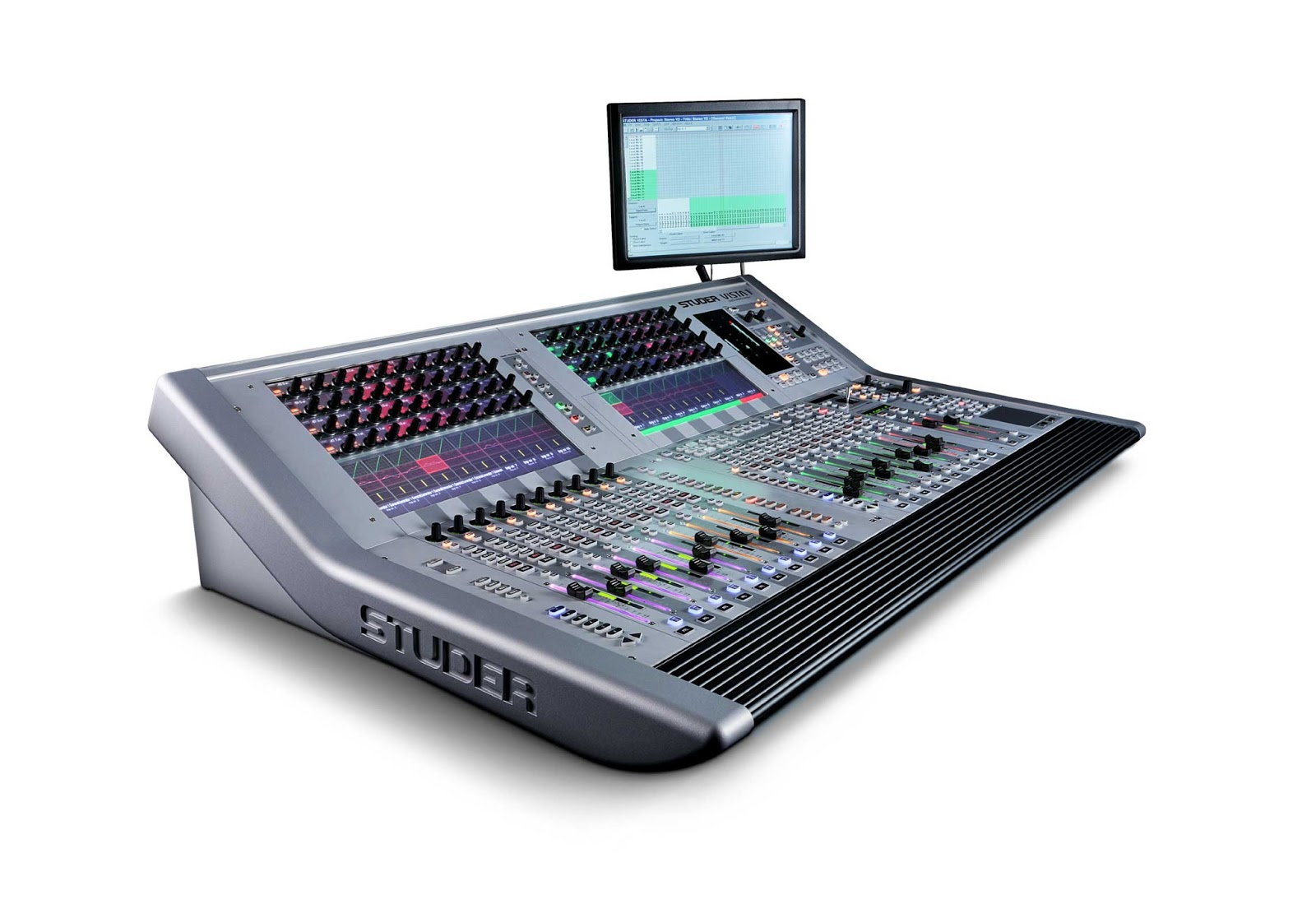 harman s studer showcases smaller vista 1 console harman professional solutions news. Black Bedroom Furniture Sets. Home Design Ideas