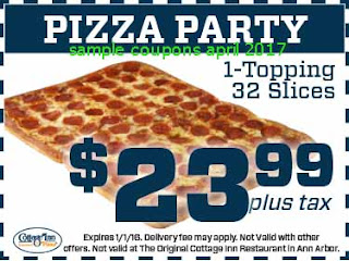free Pizza Inn coupons april 2017