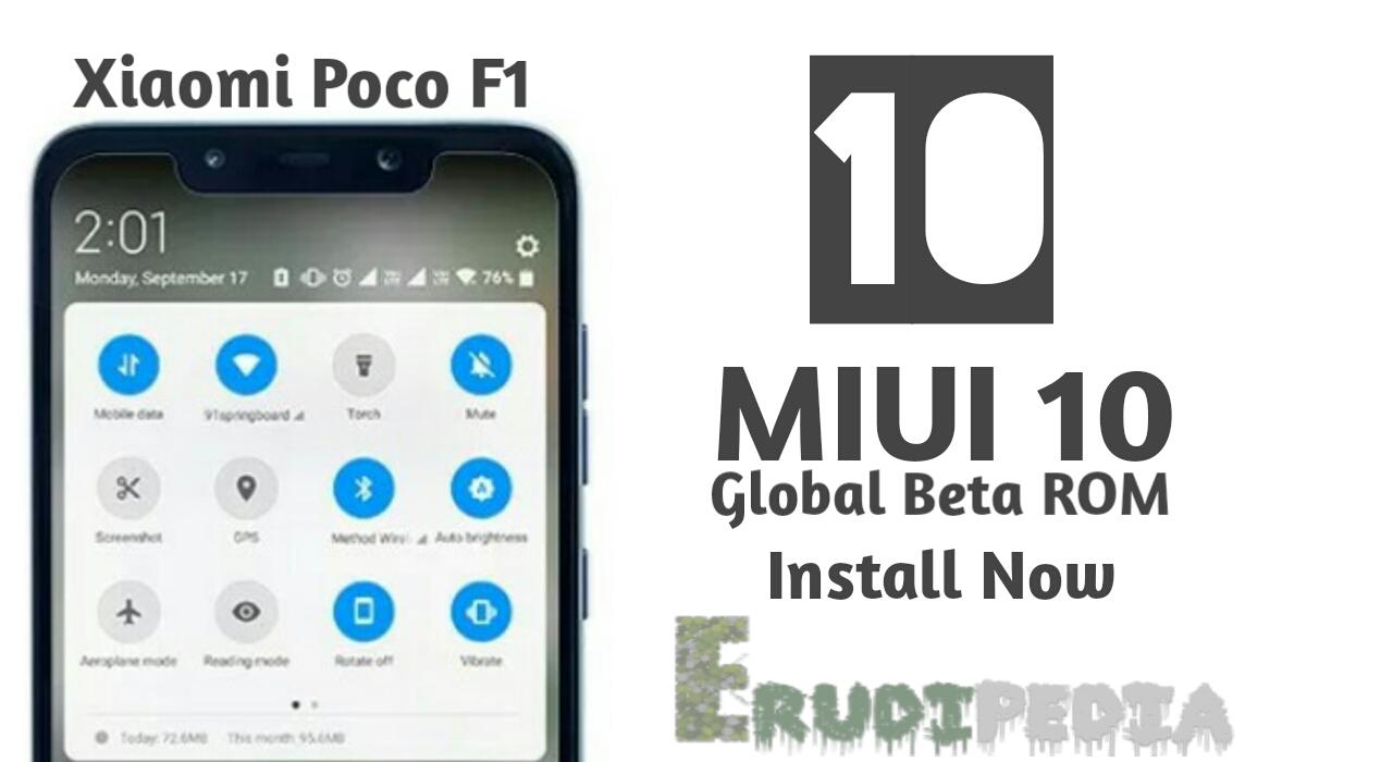 Miui10 pocophone f1 Install Global beta
