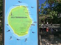 gili trawangan tourism map