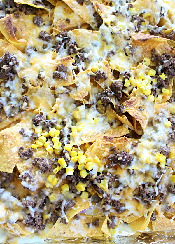 One Pan Broiler Nachos from Table for Seven