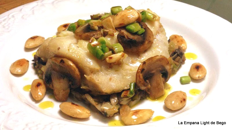 La empana light de bego lomos de bacalao con salteado de for Como cocinar lomos de bacalao