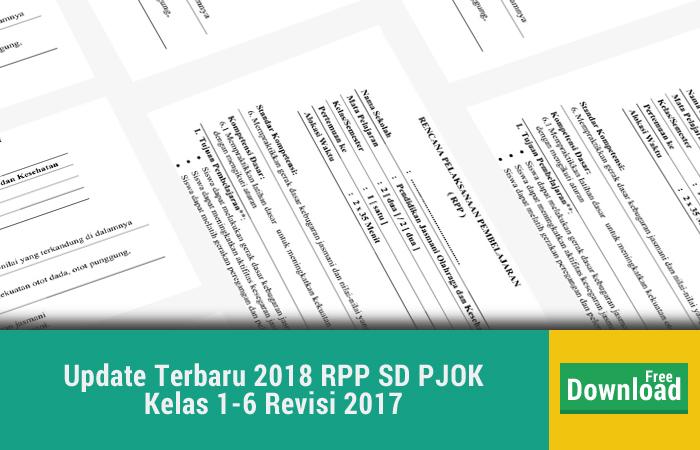 Update Terbaru 2018 RPP SD PJOK Kelas 1-6 Revisi 2017