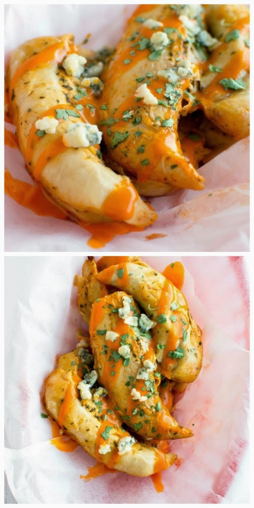 Crockpot Buffalo Ranch Chicken Tenders from Crockpot Gourmet found on SlowCookerFromScratch.com