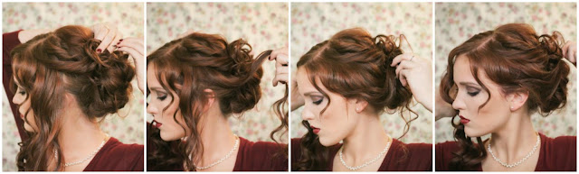 Phenomenal The Freckled Fox Holiday Hair Week The Fancy Bun Hairstyles For Women Draintrainus