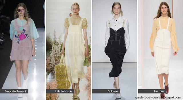 Платья с блузками на подиуме весна-лето 2018