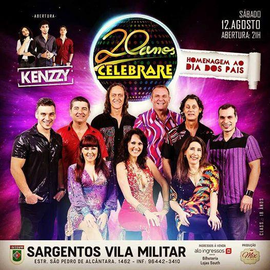 Show com  Banda CELEBRARE , na Vila Militar