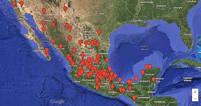 Mapa de escritores mexicanos