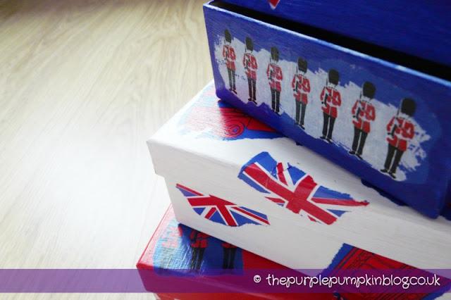 Diamond Jubilee Decoupage Boxes