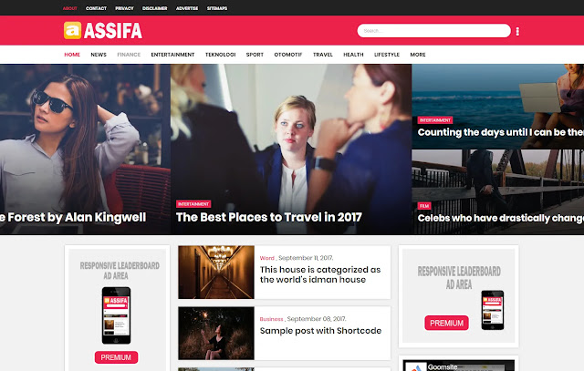 Assifa Responsive Magazine News Personal Blogger Template Theme