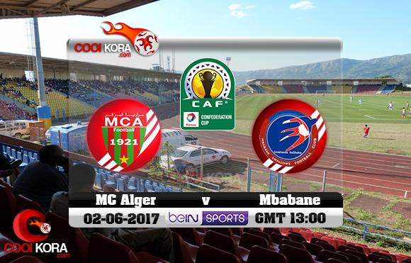 مشاهدة مباراة امبابان سوالوز ومولودية الجزائر اليوم 2-6-2017 كأس الإتحاد الأفريقي