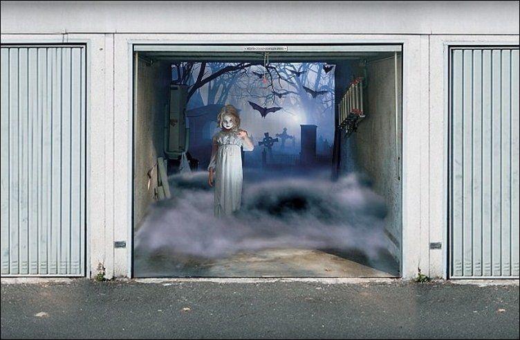 Dagensinn 3d Graphics On The Garage Door