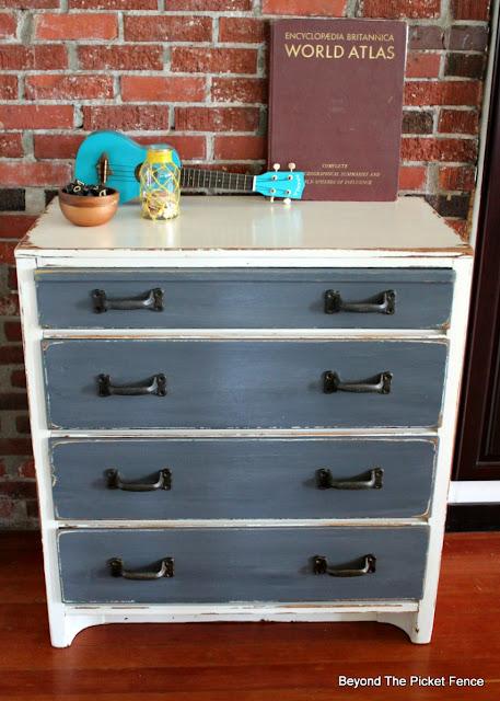 rustic, dresser, fusion mineral paint, makeover, paint, garage sale find, http://bec4-beyondthepicketfence.blogspot.com/2016/06/rustic-industrial-dresser.html