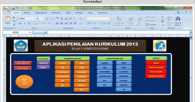 Aplikasi Penilaian Untuk Tingkat Sd Kelas 1 2 3 4 5 Dan 6 Kurikulum 2013 Info Guru Honorer