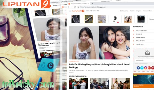 Liputan 9 Blogger Template SEO Friendly