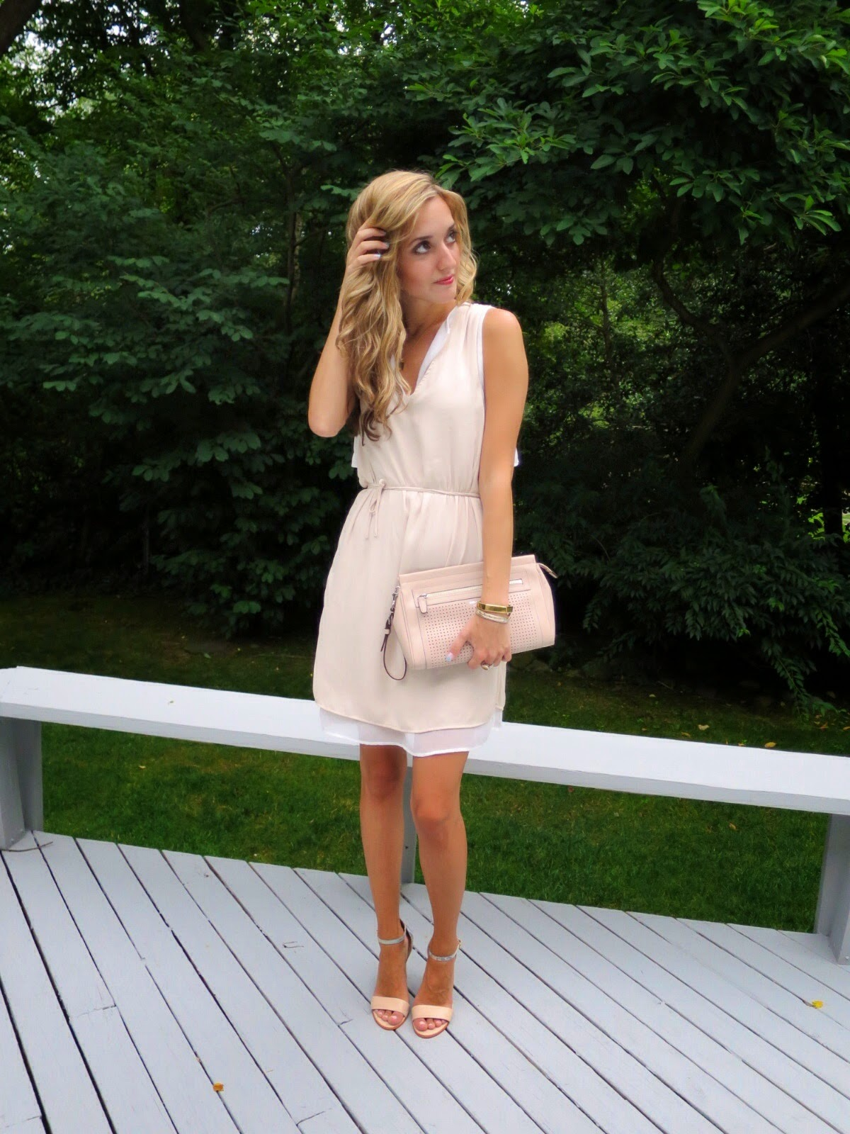 nude zara dress