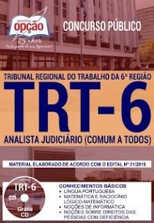 Apostila TRT 6 Analista Judiciário 2018