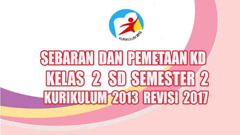 Pemetaan Kd Kelas 2 Sd Semester 2 Kurikulum 2013 Revisi 2017 Rpp Guru Sd