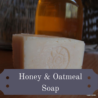 Honey, oatmeal and beeswax soap