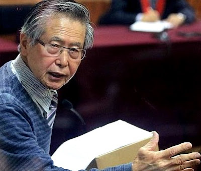 Alberto Fujimori declarando en Poder Judicial