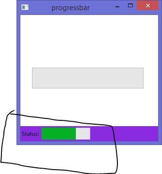 Use of ProgressBar in WPF also add it in Status bar with animation effect
