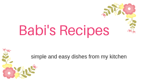 Babi 's Recipes - Easy South Indian Recipes with step by step pictures