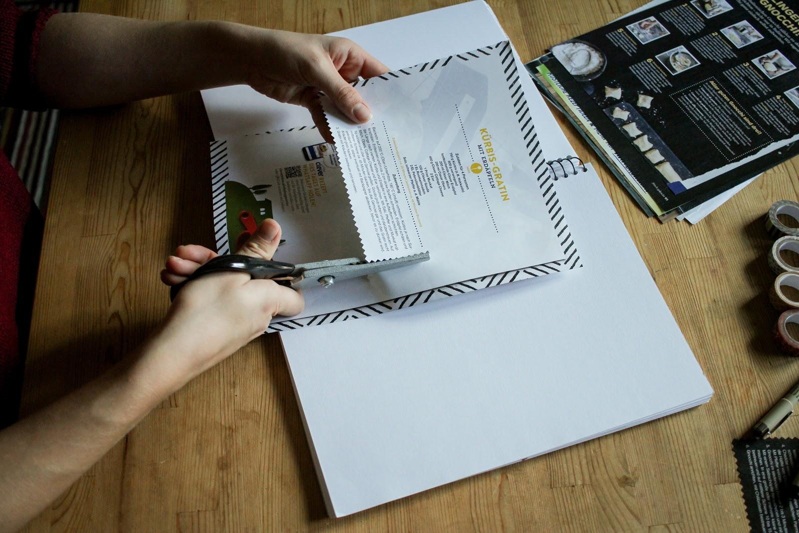 Bastelideen mit Washi Tape // DIY Kochbuch mit Washi Tape gestalten // Organisieren // Minimalismus // Ordnung muss sein
