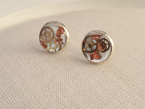 steampunk earrings