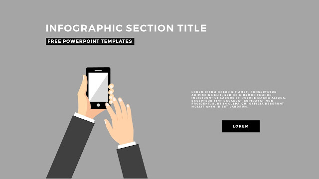 Flat Design Infographic Elements with Section Title for PowerPoint Template Slide 4