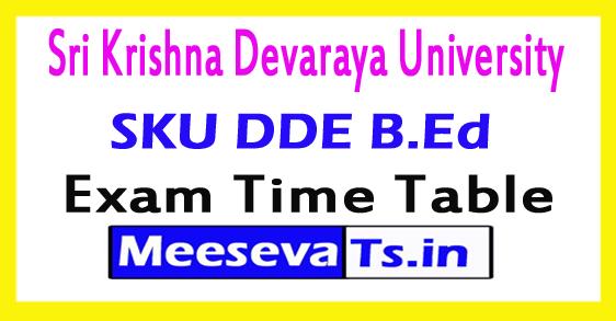 Sri Krishna Devaraya University DDE B.Ed Time Table Aug 2017