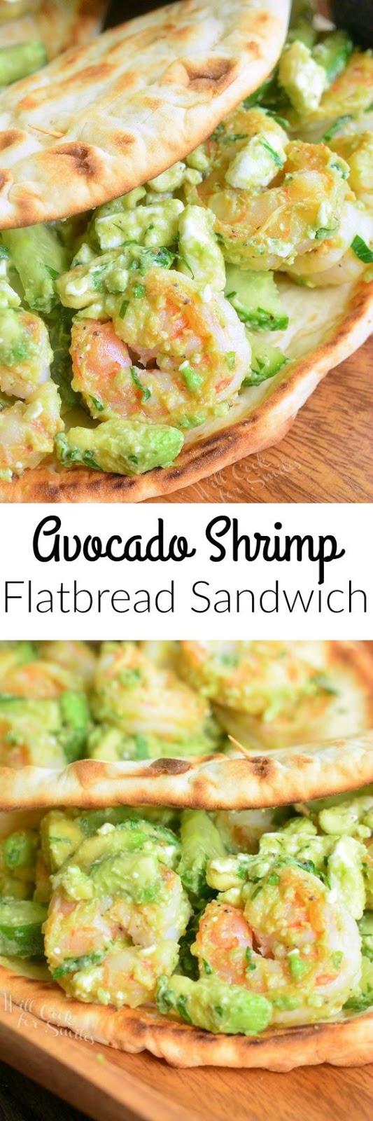Avocado Shrimp Flatbread Sandwich